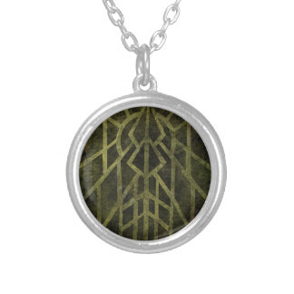 Wisconsin, Land of Barns Silver Plated Necklace