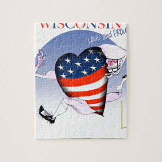 wisconsin loud and proud jigsaw puzzle