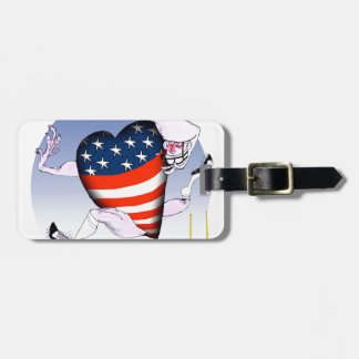 wisconsin loud and proud luggage tag