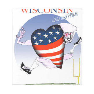 wisconsin loud and proud notepad