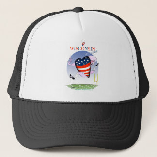 wisconsin loud and proud trucker hat