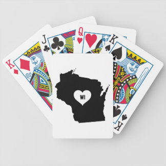Wisconsin Love Bicycle Playing Cards