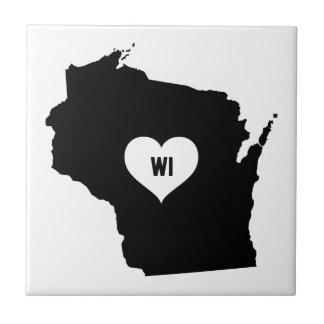 Wisconsin Love Ceramic Tile