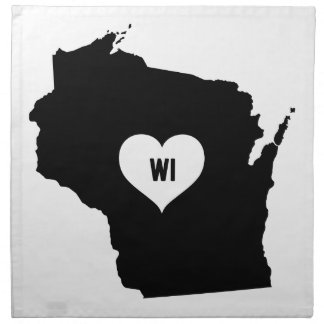 Wisconsin Love Napkin