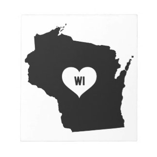 Wisconsin Love Notepad