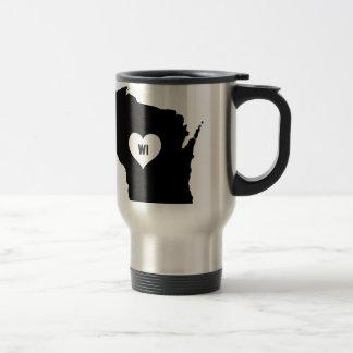 Wisconsin Love Travel Mug