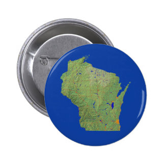 Wisconsin Map Button
