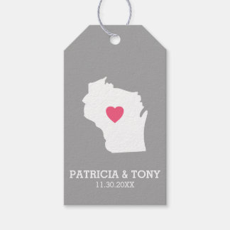Wisconsin Map Home State Love with Optional Heart