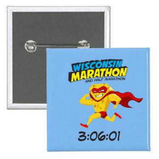 Wisconsin Marathon Post-Marathon 15 Cm Square Badge