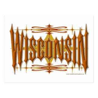Wisconsin Metal Postcard