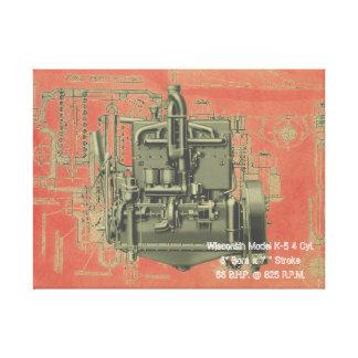 Wisconsin Motor Milwaukee Wisconsin Engine Early K Canvas Print