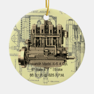 Wisconsin Motor Milwaukee Wisconsin Engine Early K Ceramic Ornament