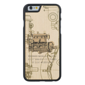 Wisconsin Motor Milwaukee Wisconsin gas engine B-3 Carved Maple iPhone 6 Case