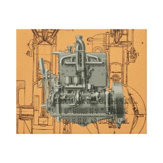 Wisconsin Motor Milwaukee Wisconsin gas engine  K Canvas Print