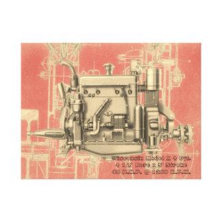 Wisconsin Motor Milwaukee Wisconsin gas engine X Canvas Print