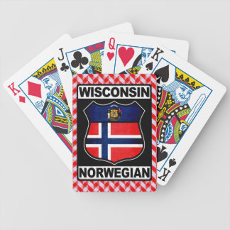 Wisconsin Norwegian American Card Deck Bicycle Playing Cards