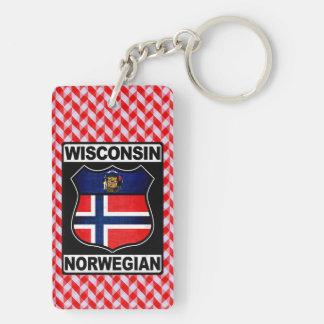 Wisconsin Norwegian American Keyring