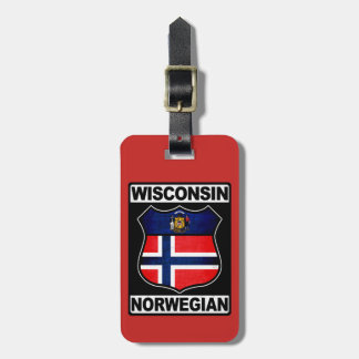 Wisconsin Norwegian American Luggage Tag Template