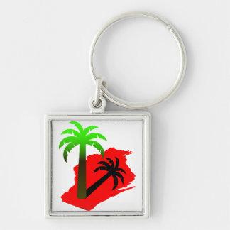 Wisconsin Palm Tree Key Chains