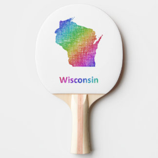 Wisconsin Ping Pong Paddle