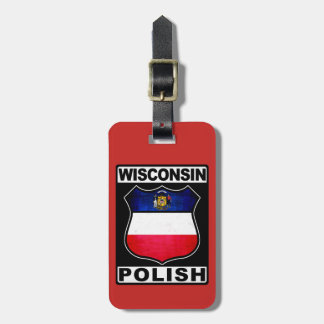 Wisconsin Polish American Luggage Tag Template