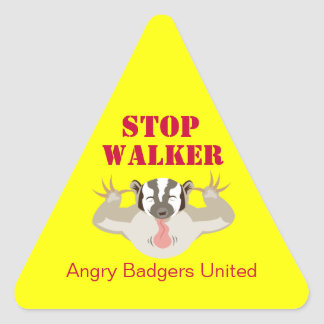 Wisconsin Politics_Stop Walker_Angry Badgers Unite Triangle Sticker