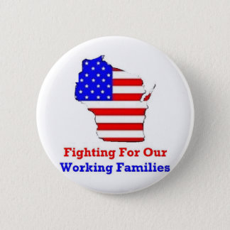 Wisconsin Protests Shirts 6 Cm Round Badge