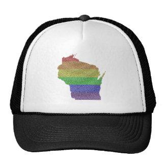 Wisconsin Rainbow Pride Flag Mosaic Cap