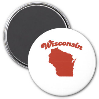 WISCONSIN Red State Refrigerator Magnets
