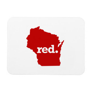 WISCONSIN RED STATE RECTANGULAR PHOTO MAGNET