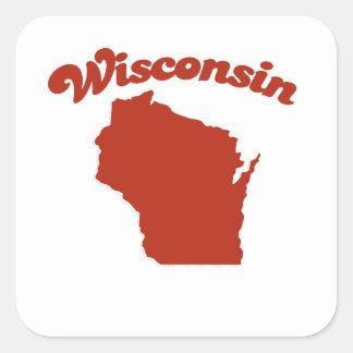 WISCONSIN Red State Sticker