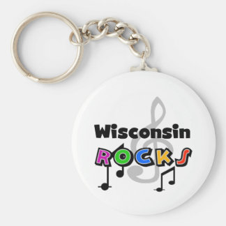 Wisconsin Rocks Key Ring