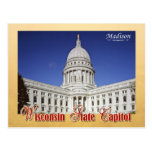 Wisconsin State Capitol building in Madison Postcard