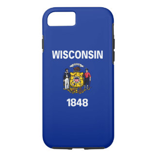 Wisconsin State Flag Design iPhone 8/7 Case