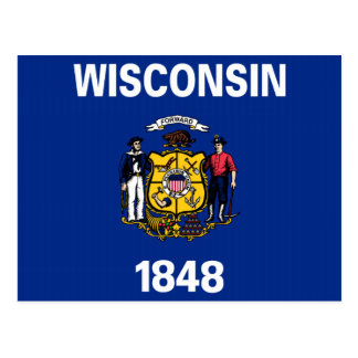 Wisconsin State Flag Postcards
