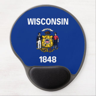 wisconsin state flag united america republic symbo gel mouse pad