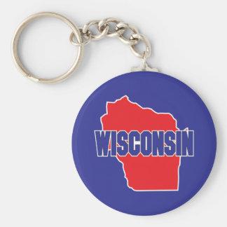 Wisconsin State Key Ring