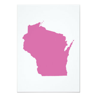 Wisconsin State Outline 13 Cm X 18 Cm Invitation Card