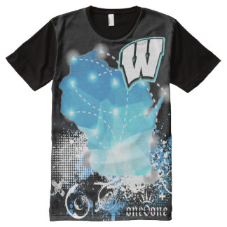 Wisconsin State Pride All-Over Print T-Shirt