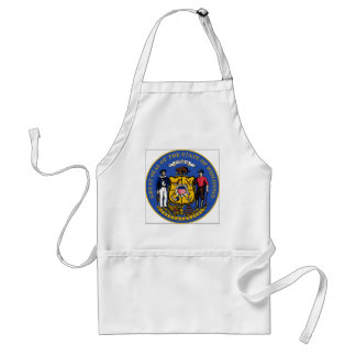 Wisconsin State Seal Adult Apron