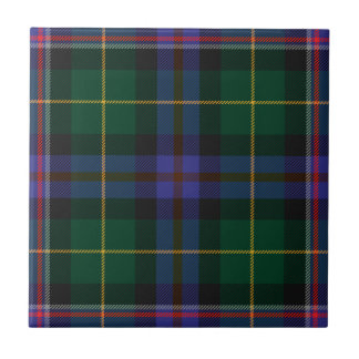 Wisconsin_state_tartan Small Square Tile
