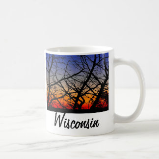 Wisconsin sunset coffee mug