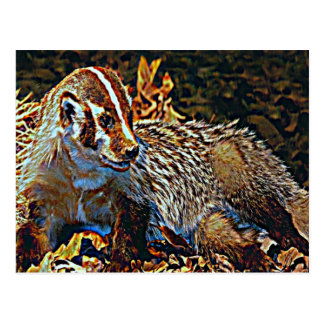 Wisconsin The Badger State Postcard