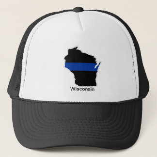 Wisconsin Thin Blue Line Trucker Hat