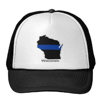 Wisconsin Thin Blue Line Trucker Hat