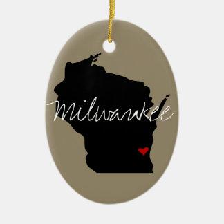 Wisconsin Town Ceramic Ornament