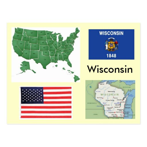 Wisconsin, USA Post Card