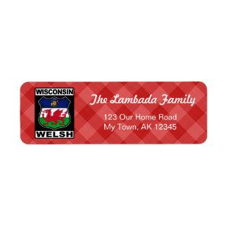 Wisconsin Welsh American Address Labels