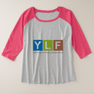 Wisconsin YLF Plus Size Raglan T-Shirt