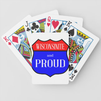 Wisconsinite And Proud Bicycle Playing Cards